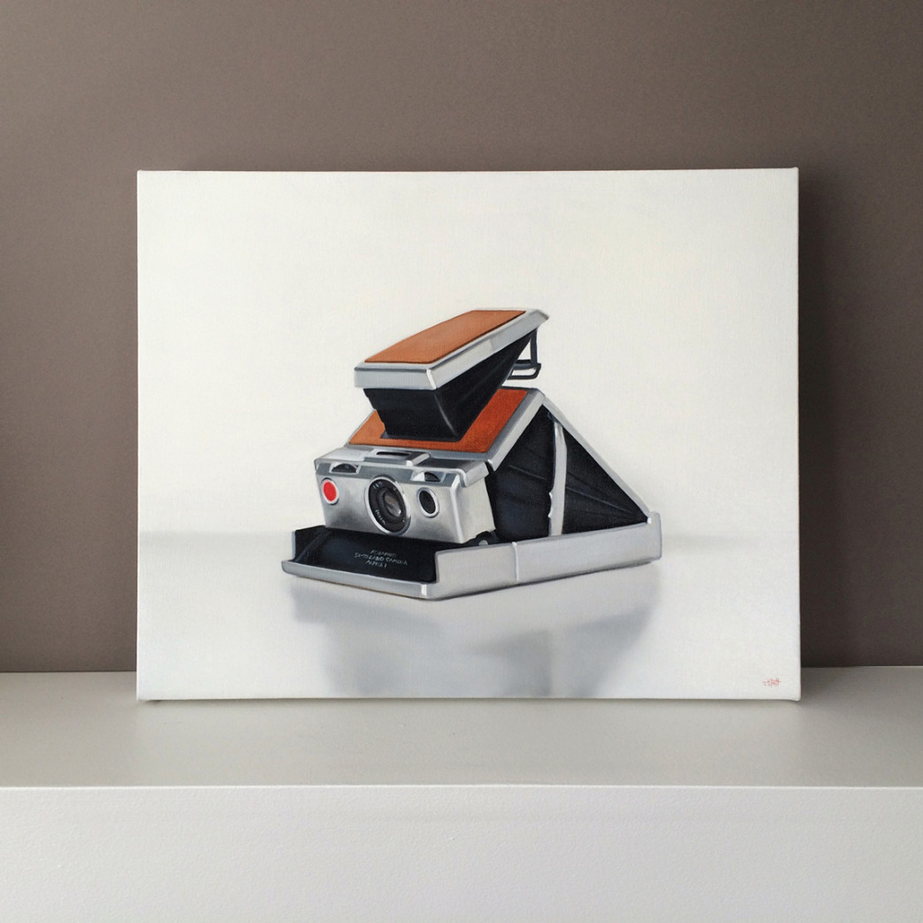 Vintage Polaroid SX-70 Camera Painting by Christopher Stott