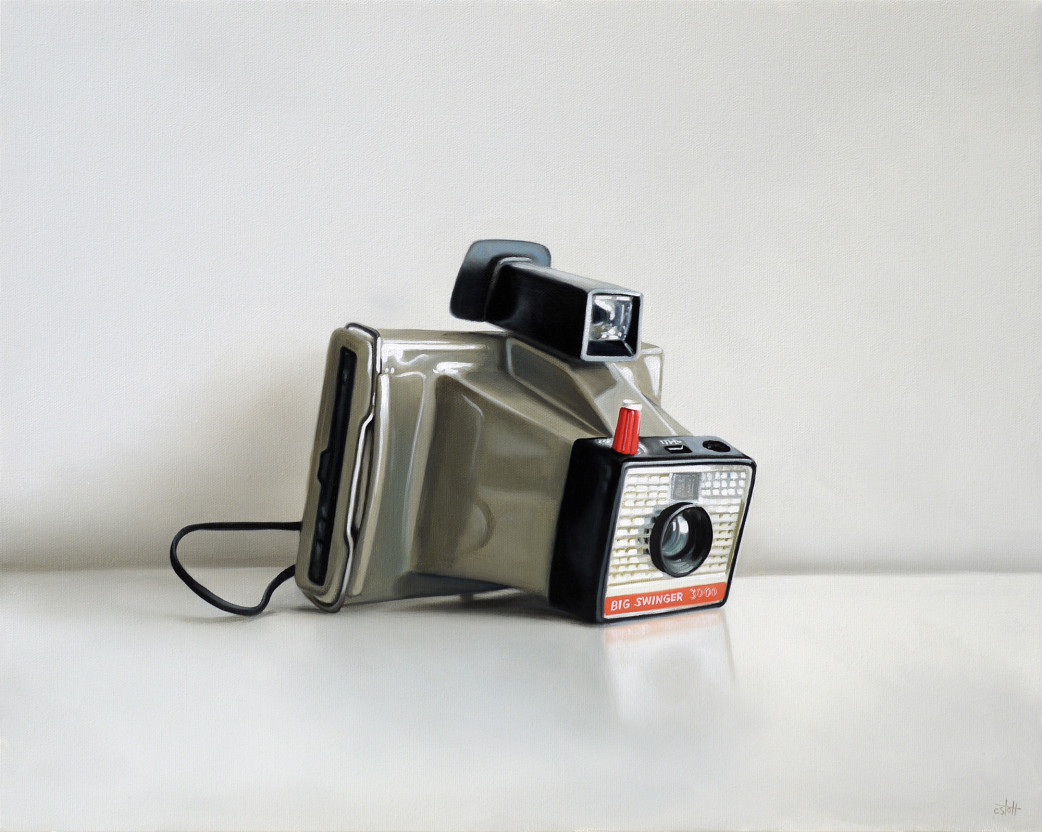 Polaroid Big Swinger 3000 oil painting by Christopher Stott