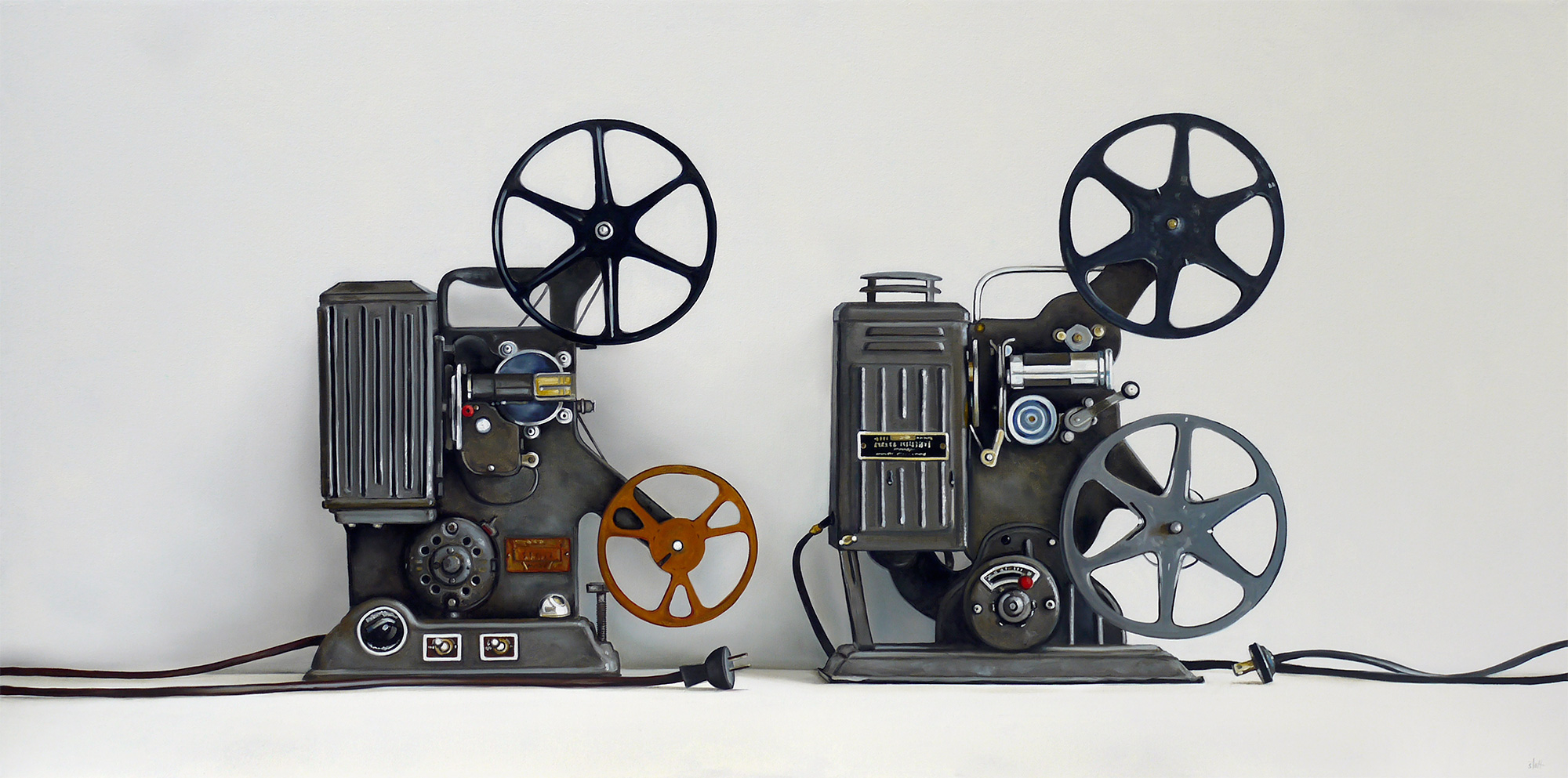 Two Vintage Film Projectors by Christopher Stott