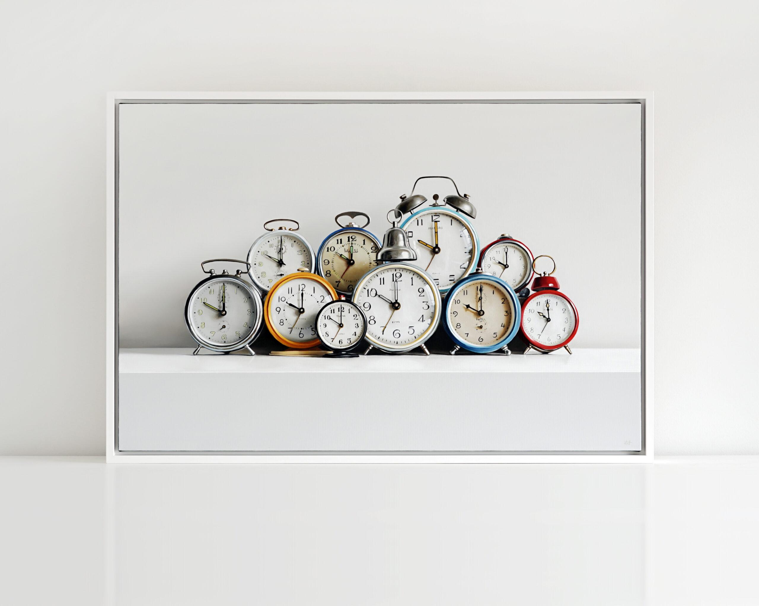 Ten Clocks Painting by Christopher Stott