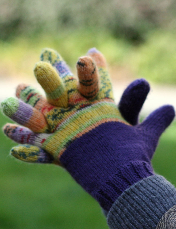 Guess Who? gloves knitting pattern for kids and adults designed by Holli Yeoh