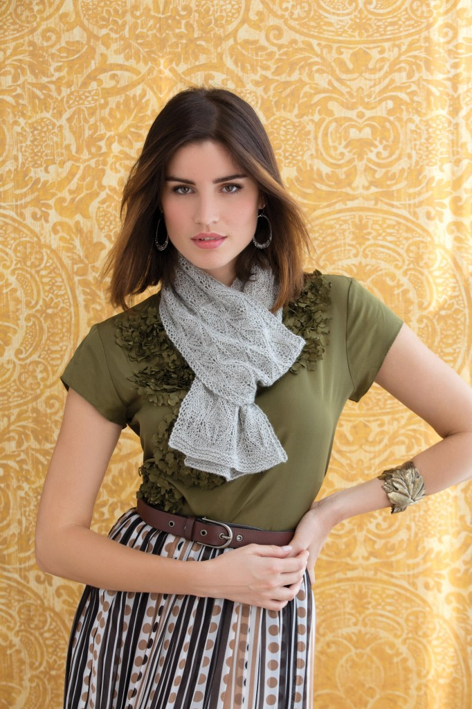 Holli Yeoh | Shades of Gray: Laceweight Scarf