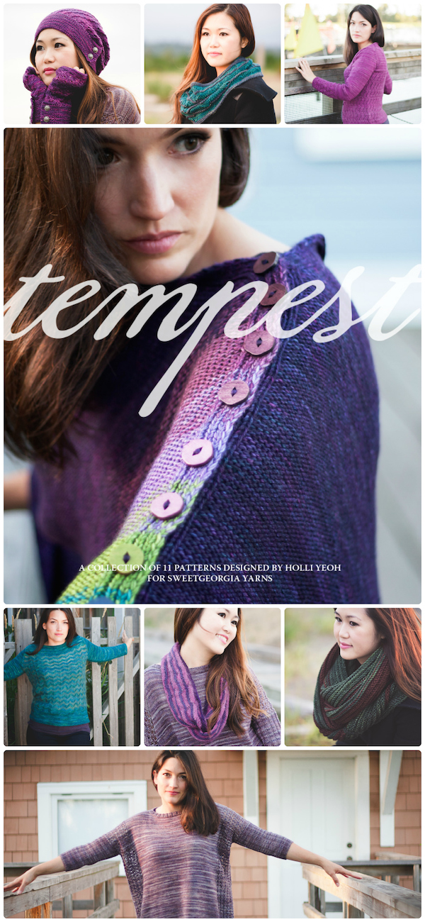 Tempest | a collection of 11 knitting patterns designed by Holli Yeoh for SweetGeorgia Yarns