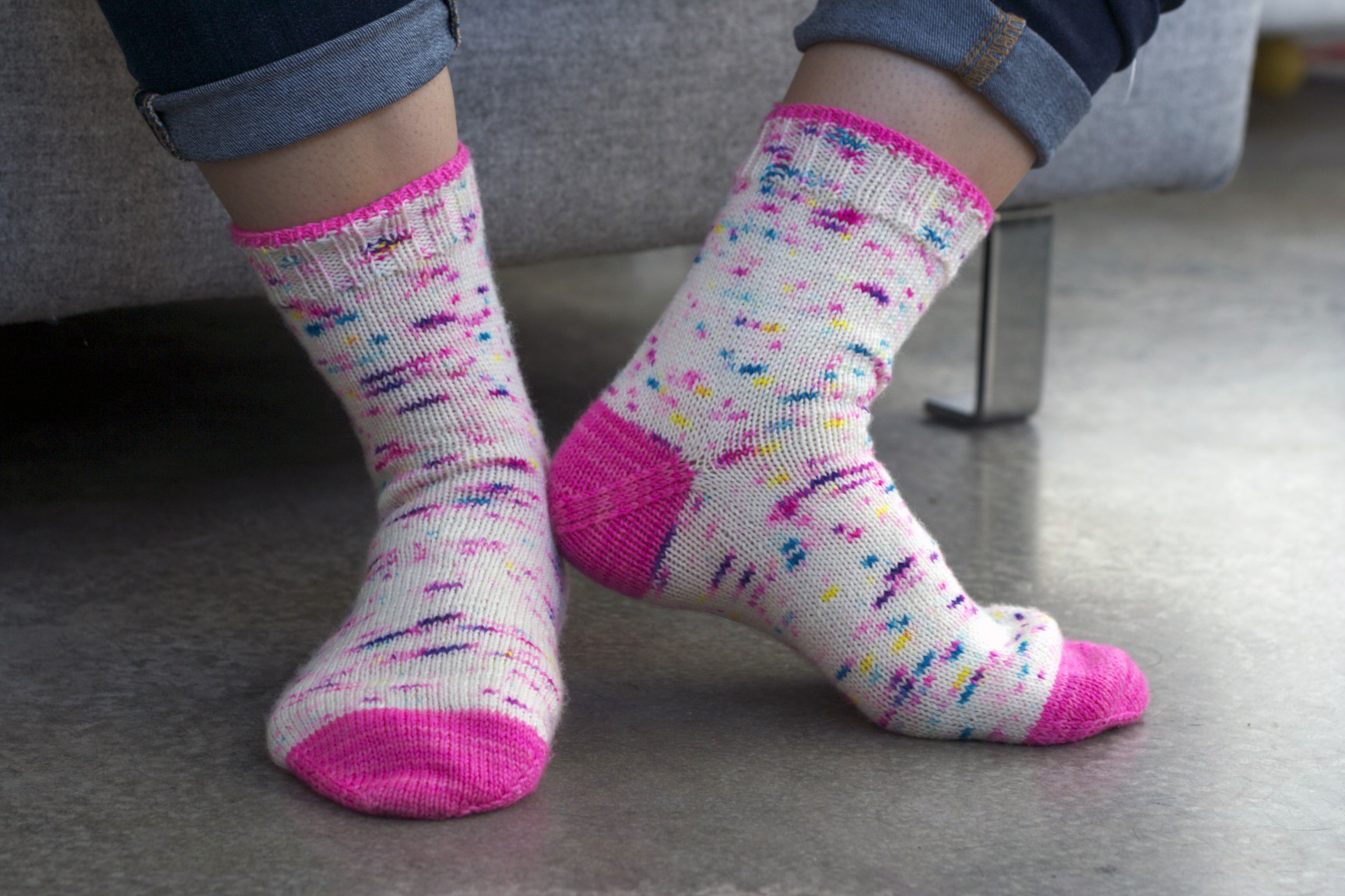 Tip Toe Up socks knitting pattern for babies, kids and adults designed by Holli Yeoh