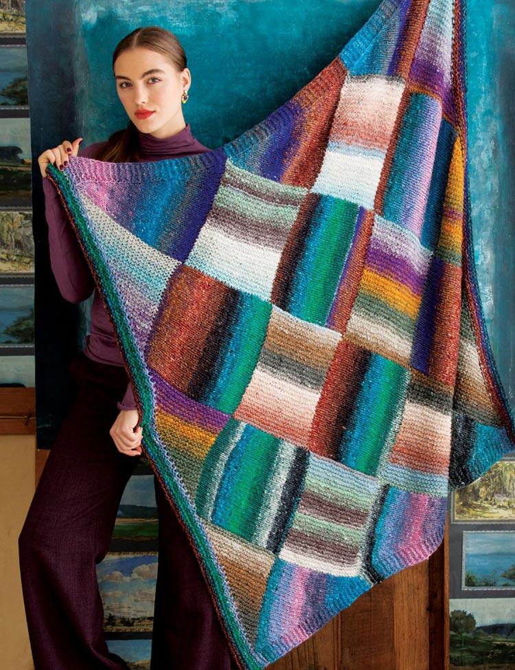 Entrelac Blanket knitting pattern by Holli Yeoh   Noro Magazine Fall Winter 2015