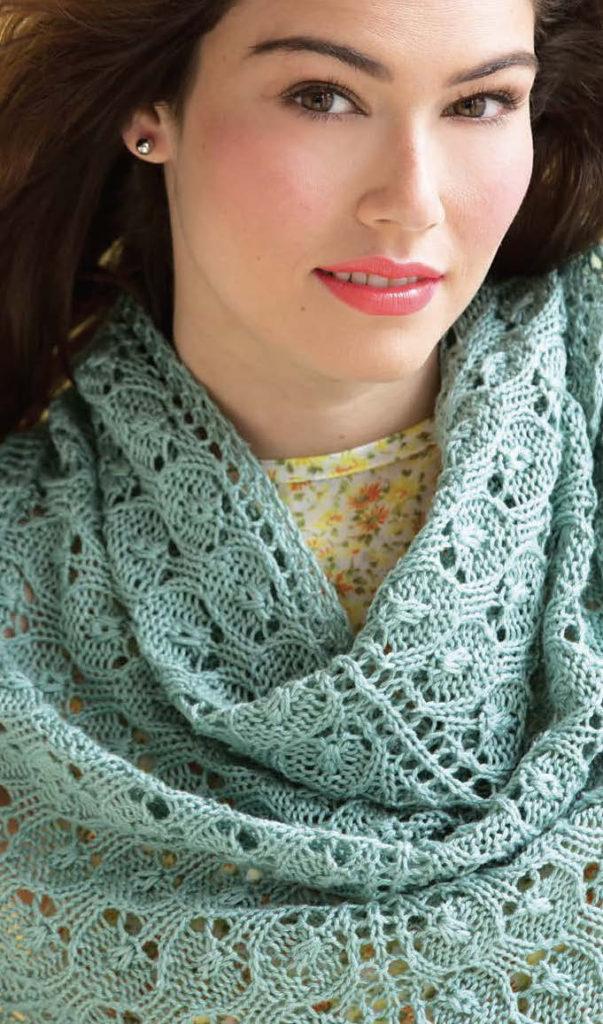 Triangular Shawl knitting pattern by Holli Yeoh   60 Quick Cotton Knits
