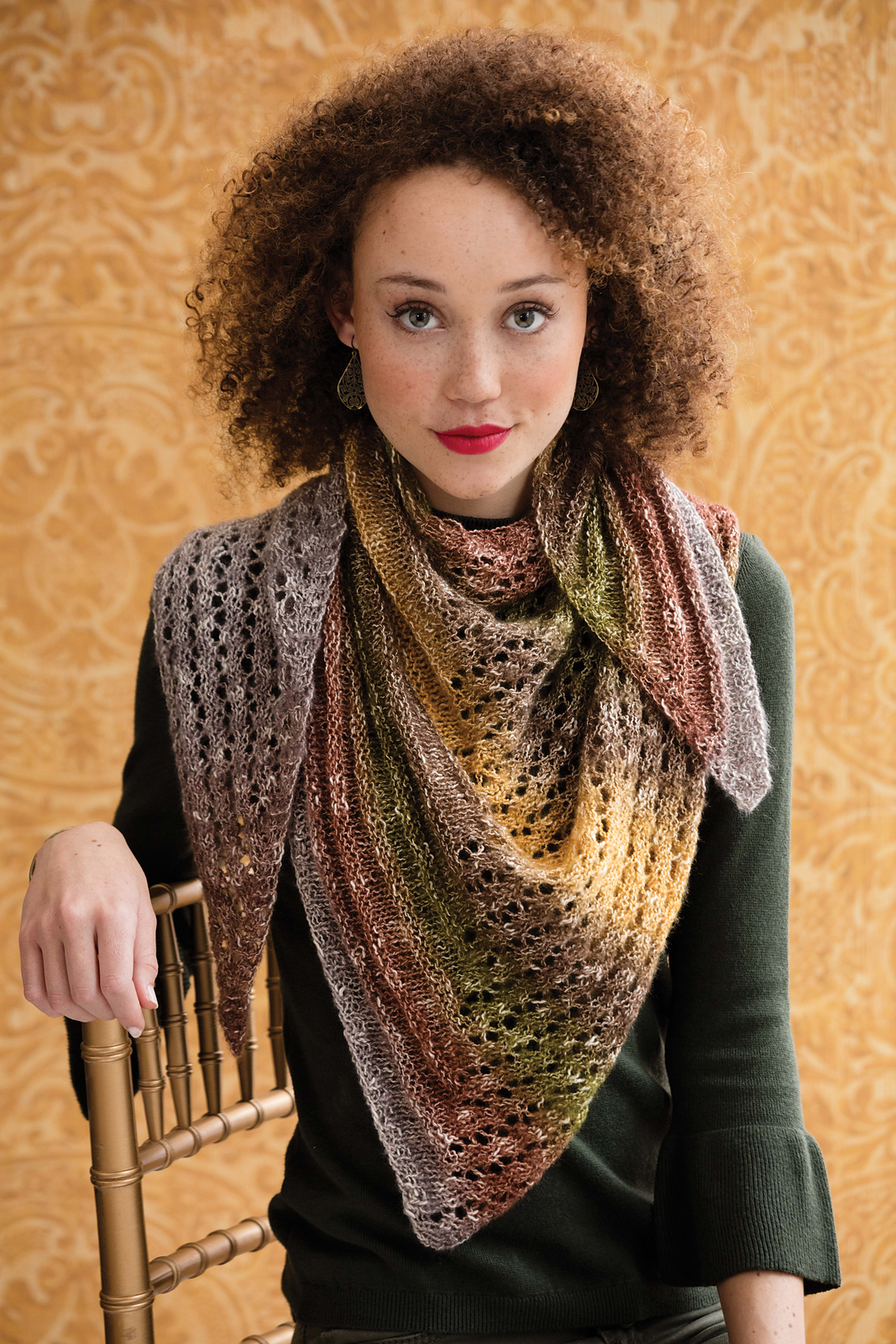 Right Triangle Shawl knitting pattern by Holli Yeoh | Knit Simple magazine, Fall 2016