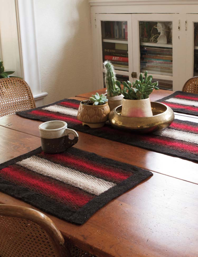 Shadow Weave Placemat & Table Runner knitting pattern by Holli Yeoh   No Place Like Home collection edited by Knit Picks