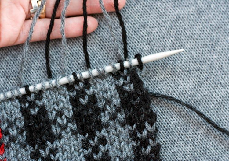 Checkered Stitch Pattern knitting tutorial by Holli Yeoh