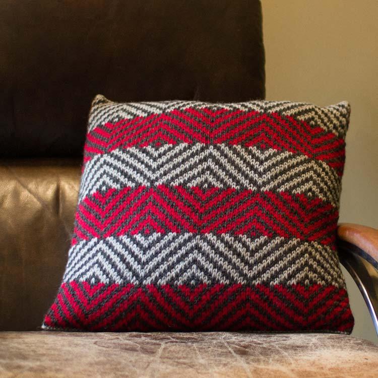 Pyramid Lake Pillow knitting pattern by Holli Yeoh