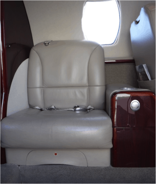 Citation CJ1+ Forward Cabin Side Facing Chair with Storage Cabinet