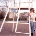 julie and lifeguard chair001