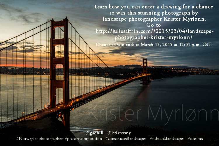 Go to Krister's Web site and enter to win!