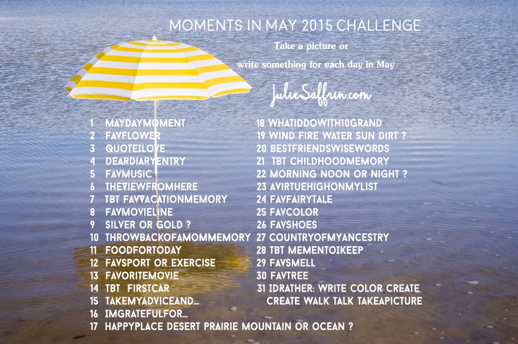 Moments in May 2015 Challenge | https://juliesaffrin.com