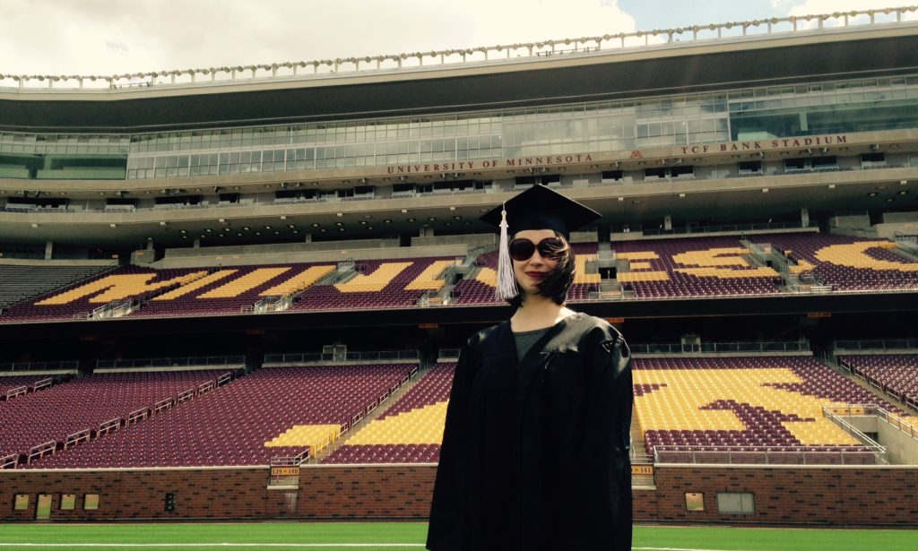 Layna Mestad upon her graduation from the University of Minnesota