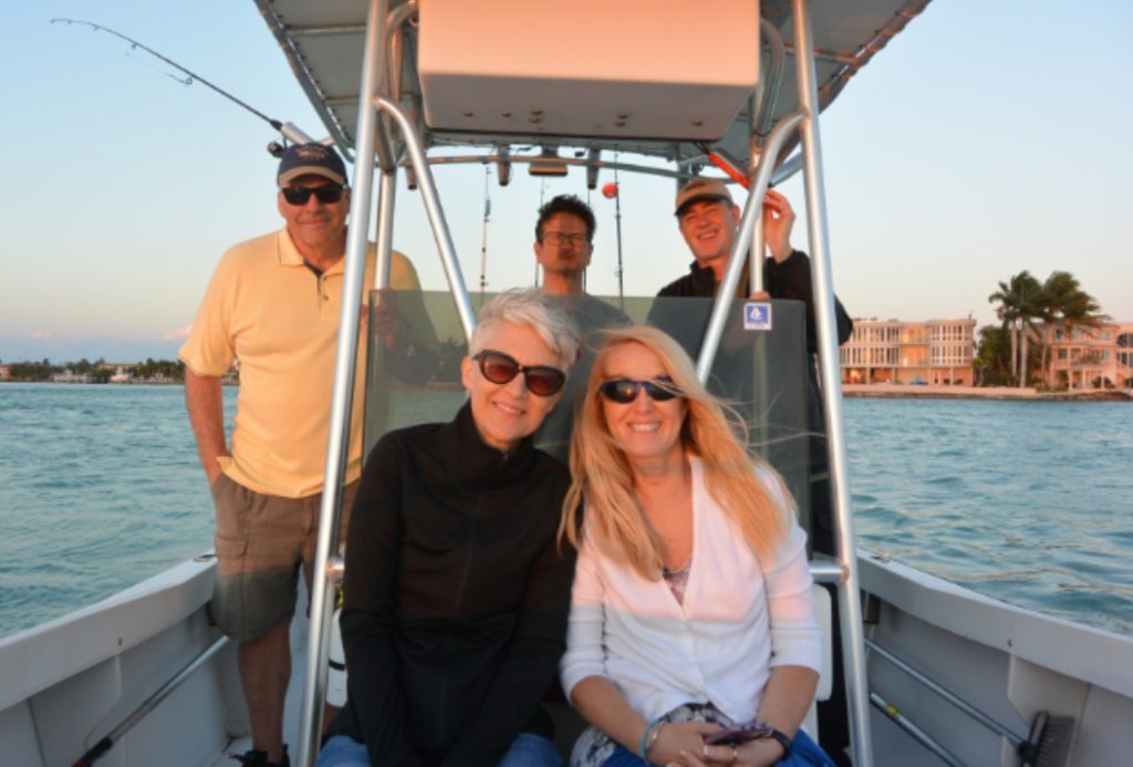 Trip to Florida Keys with friends (left to right: Randy, Sue, hubby Rick, Peggy and Kris