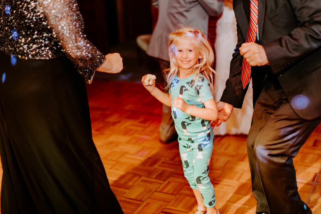 Oliva enjoying dancing with her Amma and Boppa