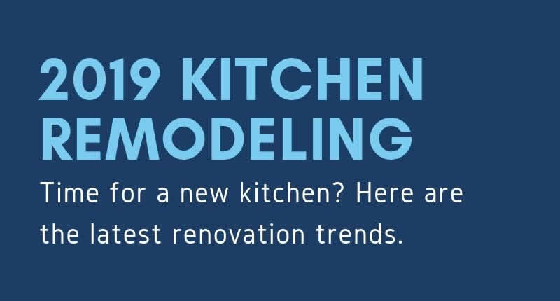 Kitchen Remodeling Trends for 2019 – Infographic