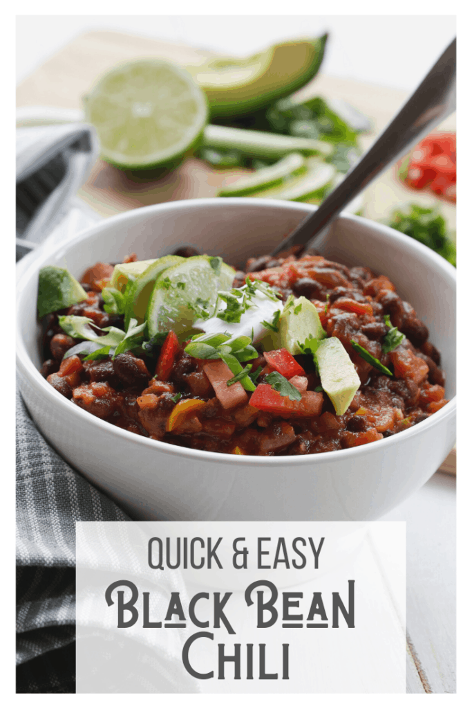 Quick and Easy Black Bean Chili