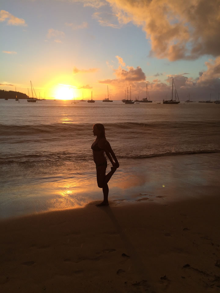 Kauai Sunset Pose
