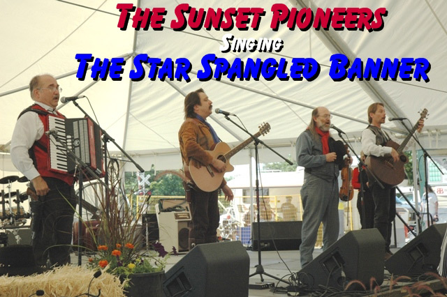 Pioneer Pepper & The Sunset Pioneers sing the Star Bangled Banner
