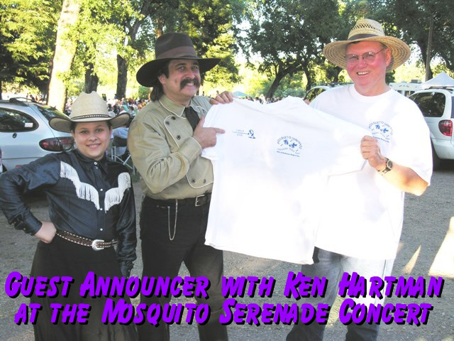 Pioneer Pepper guest host at the Mosquito Serenade Concert