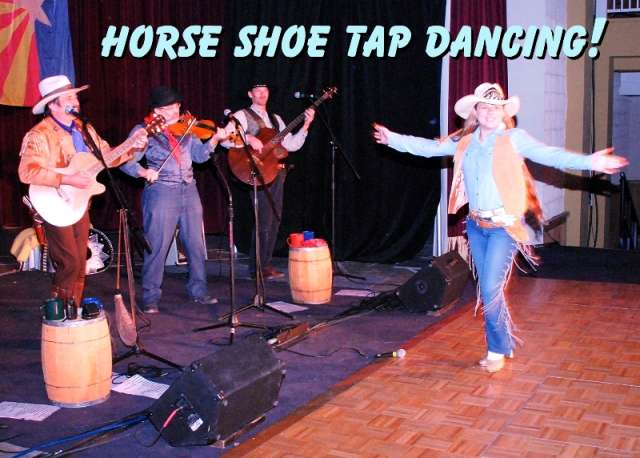 Tap Dancing Calena of The Sunset Pioneers