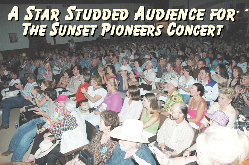 Star Studded Crowd at the Sunset Pioneers concert at the Little House on the Prairie reunion in Tombstone