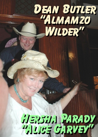 Almonzo Wilder (Dean Butler) and Alice Garvey (Hersha Parady) at the Little House on the Prairie Reunion in Tombstone Arizona
