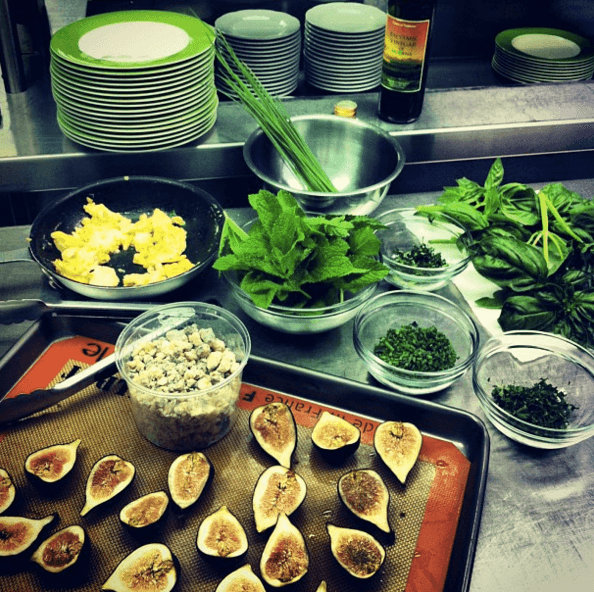 Preparations for Grilled Gorgozola Stuffed Figs