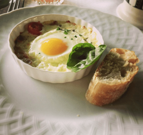 Our Signature Baked Eggs Caprese