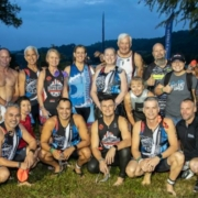 Triathletes gather before beginning the 2018 Kerrville Triathlon.