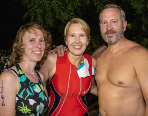 train for your triathlon with friends