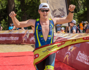 crossing the Kerrville Tri finish line