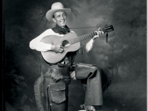 Famous from Kerrville, Jimmie Rodgers and his guitar