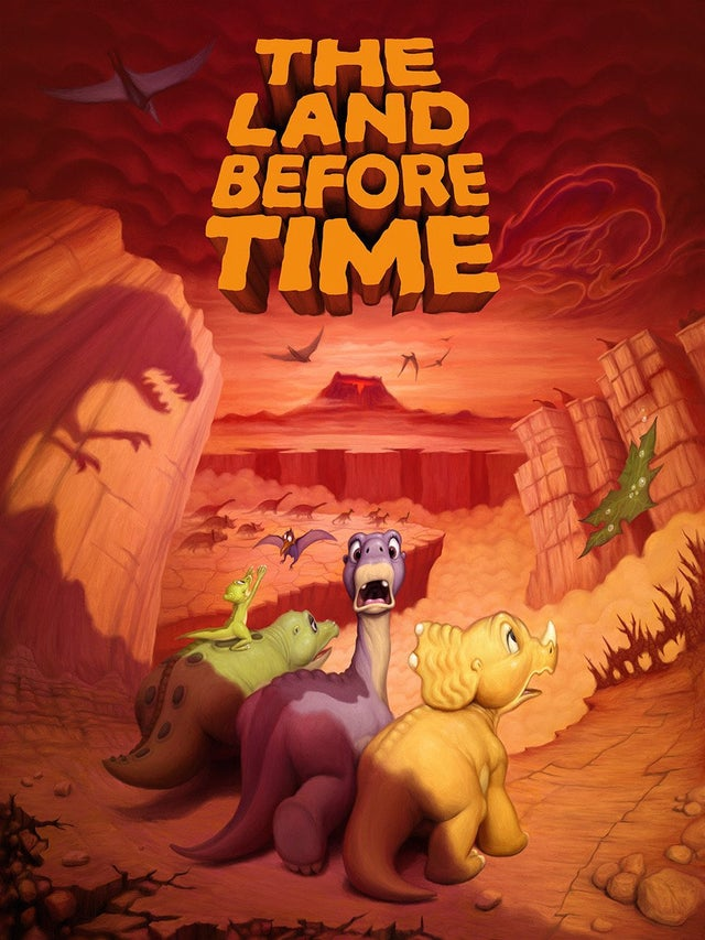 The Land Before Time Alternative Poster