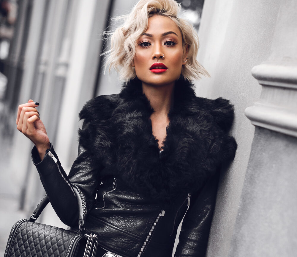 Micah-Gianneli-Vogue-Fashion-Editorial-Blogger-Melbourne-Australia-Street-Style-Farfetch-Balmain-Rebecca-Vallance-House-of-Harlow-Camilla-and-Marc-Chanel-Leather-Biker-Jacket-Designer-Luxury