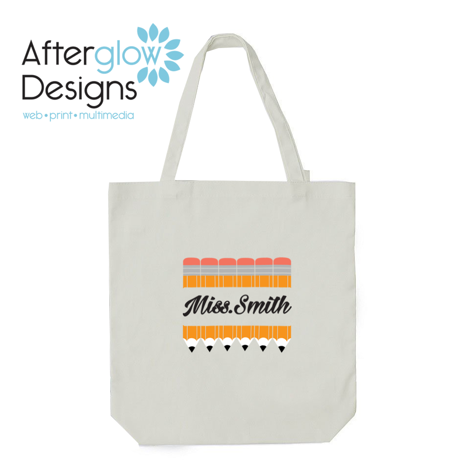 Pencils on White Tote Bag