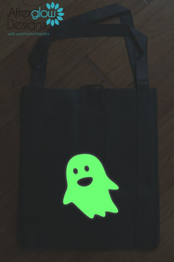 "Trick or Treat Bag - Glow in the Dark ""Ghost"""