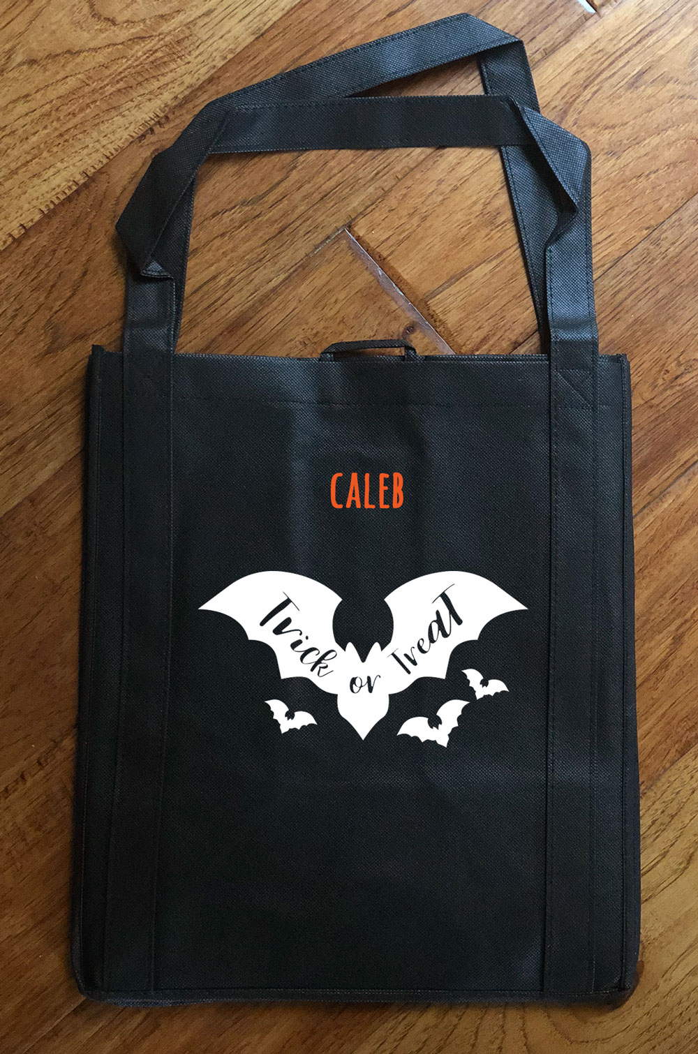 "Trick or Treat Bag - Glow in the Dark ""Bats"""
