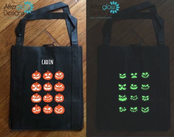 "Trick or Treat Bag - Glow in the Dark ""Jackolanterns"""