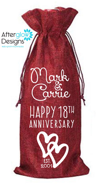 Anniversary Wine Bottle Gift Bag