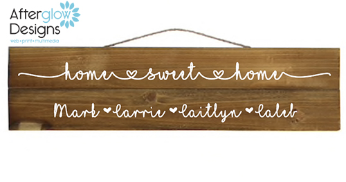 Personalized Home Sweet Home Sign