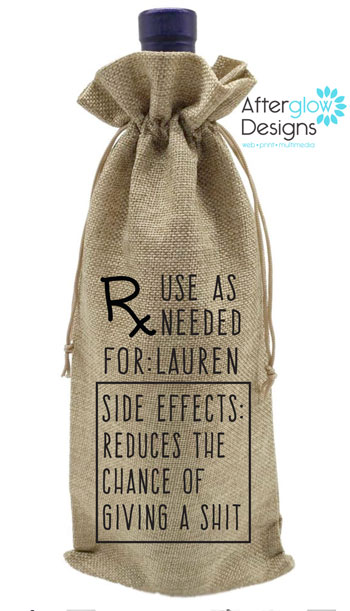 Prescription Wine Bottle Gift Bag
