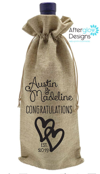 Wedding Wine Bottle Gift Bag
