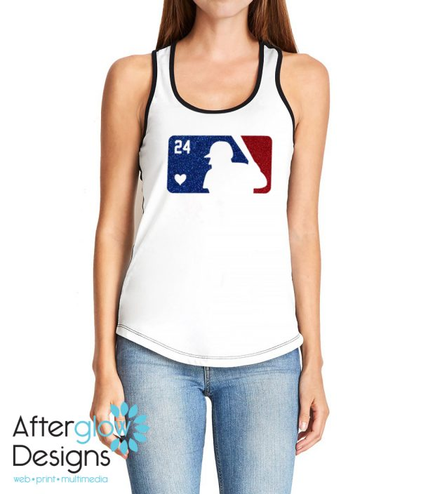 Add Your Player's number, choose from a white and Black or White and Navy Blue Tank Top.