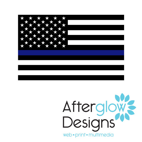 Thin Blue Line Police Flag