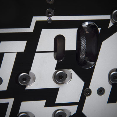 New clutchbell clearance hole, as the 3mm chassis flexes a lot more.