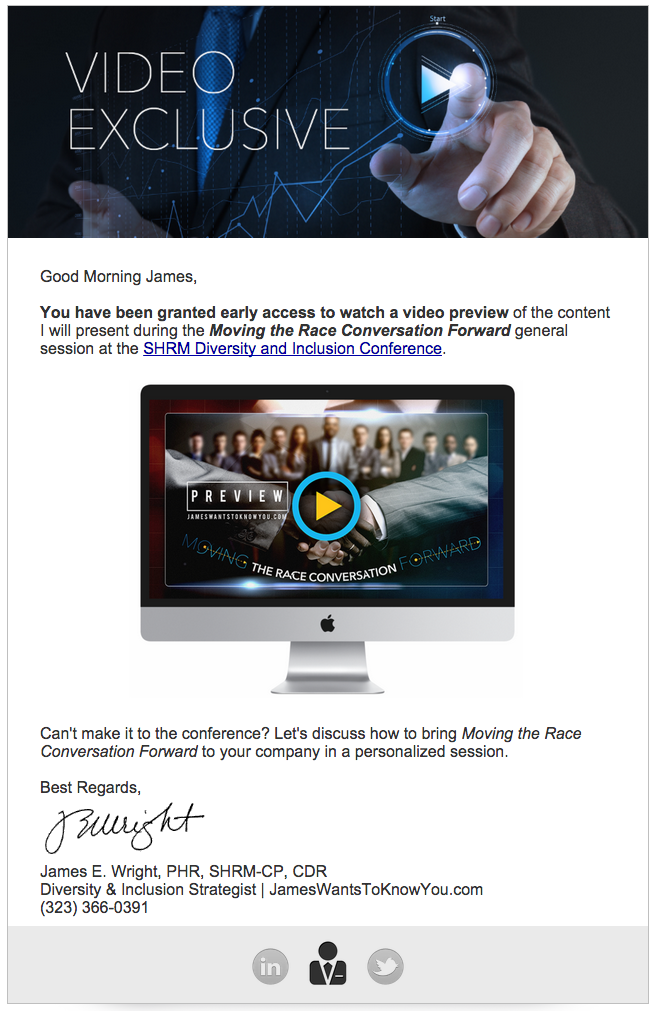 Video Exclusive Email