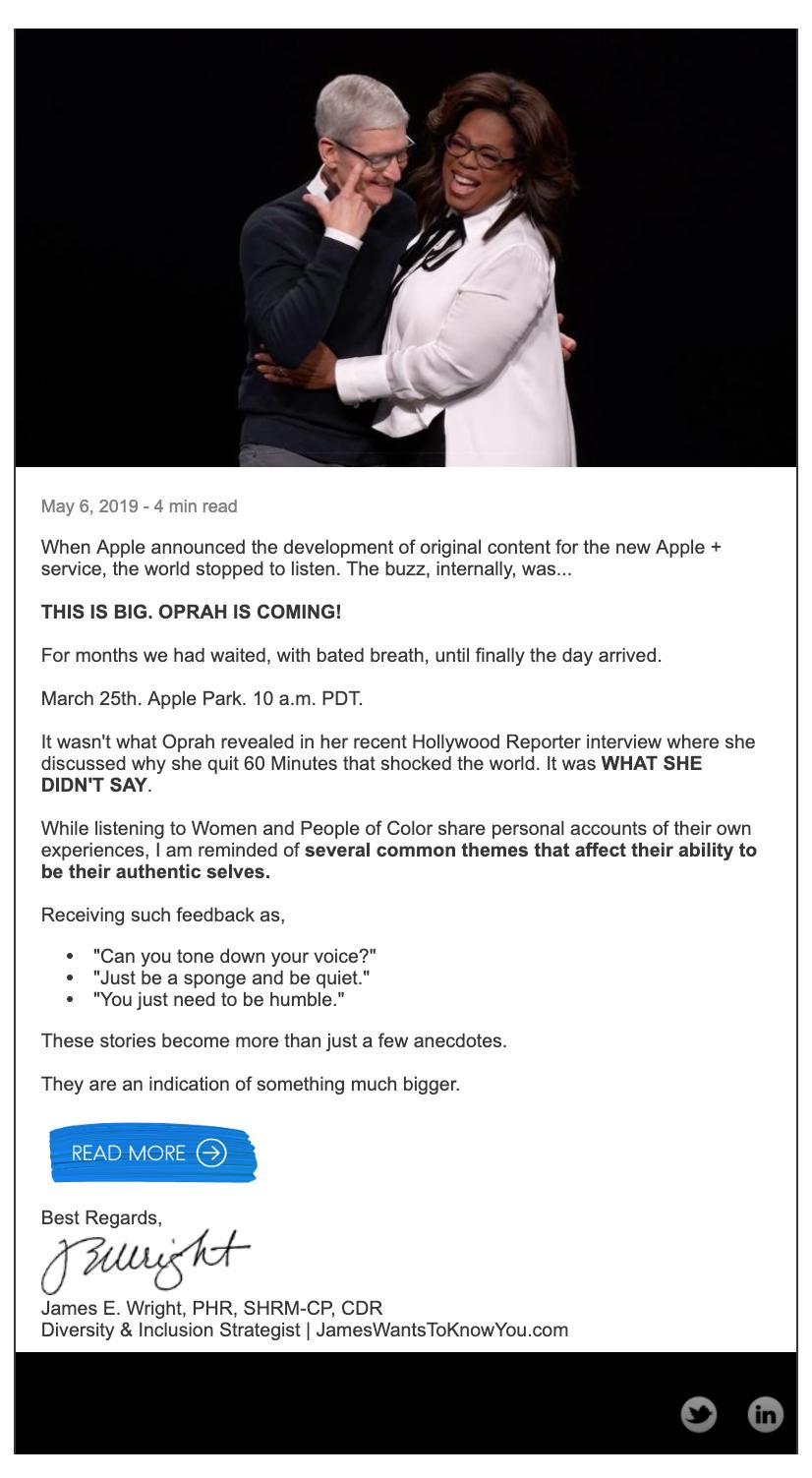 What Oprah Didn't Say Article